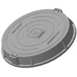 Люк полимерно-песчаный средний ПП-630 С (нагрузка 7 т), обойма 780х90мм, крышка 630х50мм серый