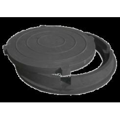 Люк полимерно-песчаный легкий ПП-630 ЛМ (нагрузка 1,5 т), обойма 765х70мм, крышка 625х35мм черный