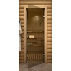 """Дверь банная """"Термостекло Бронза"""""""