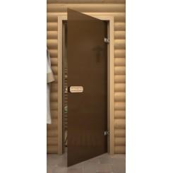 """Дверь банная """"Термостекло Бронза матовая"""""""