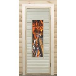 """Дверь остекленная """"С цветным рисунком"""""""