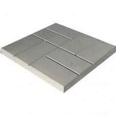 8 кирпичей 400*400*50мм  серый (6,25 в кв.м)