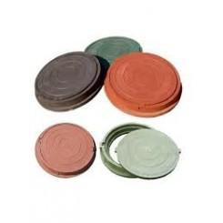 Люк полимерно-песчаный легкий ПП-630 ЛМ (нагрузка 1,5 т), обойма 765х70мм, крышка 625х35мм зеленый