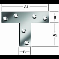 Т- образный соединитель 40х150х125х2мм, оцинк.