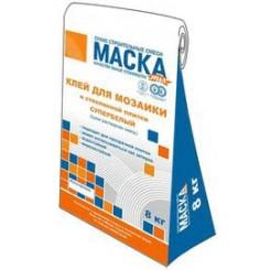 МАСКА Клей для мозаики СУПЕРБЕЛЫЙ (полимерцементный) 8 кг