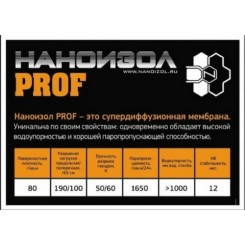 НАНОИЗОЛ PROF  70 кв.м